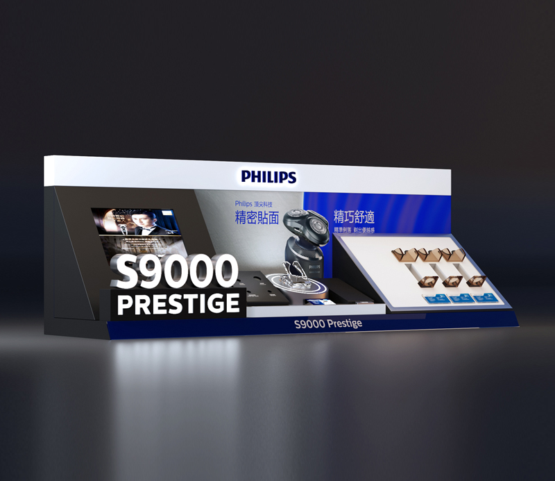 Philips Shaver Display Stand with Lights