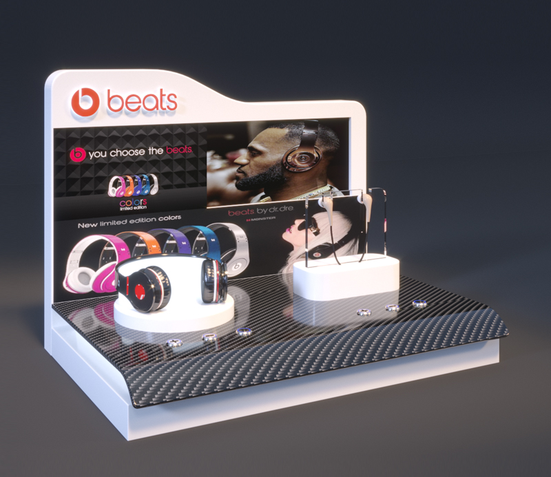 BEATS Headset Display Rack With LCD
