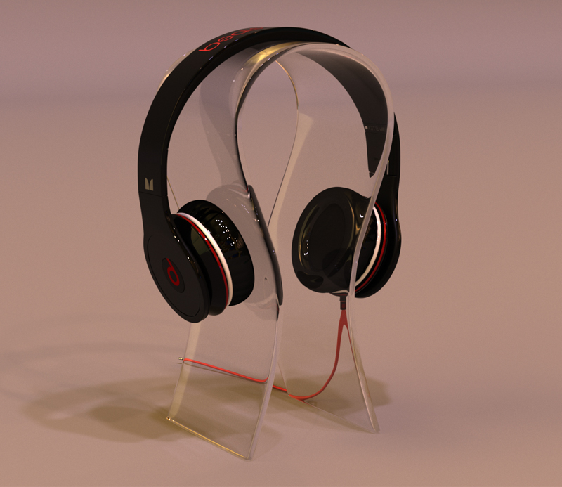 Transparent U-shaped Headphone Display Stand