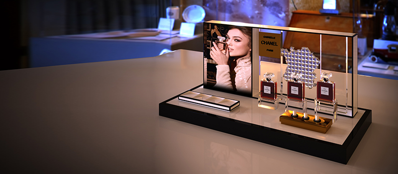 Counter Top Display Stand With LCD For Bluetooth Speaker