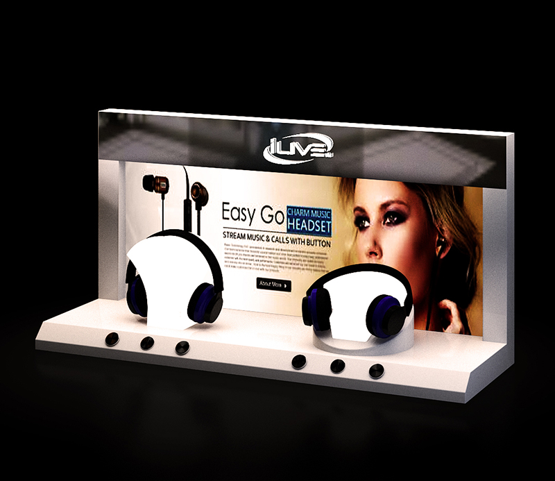 Jabra Easy Go Buletooth Headset Display Rack