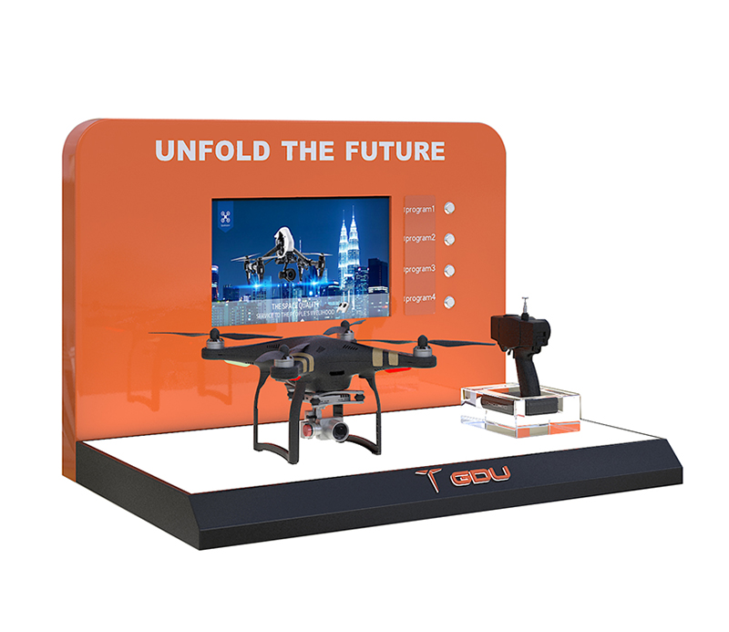 Factory Directly Custom UAV Display Rack With LCD