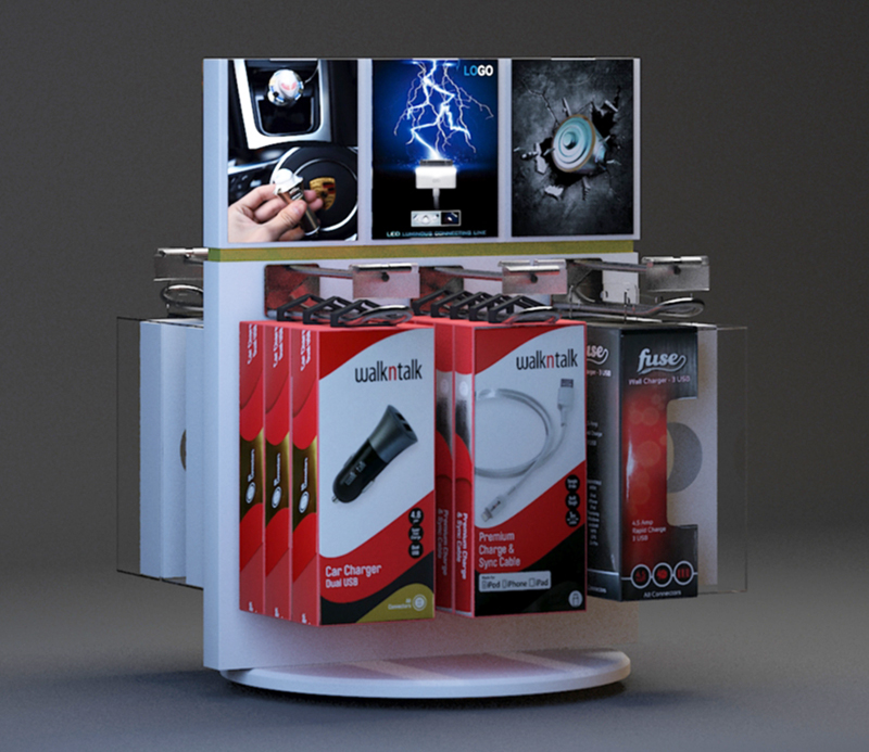 Customized Mexico Car Charger Rotating Display Stand